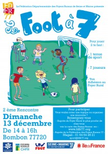 Flyer foot à 7  Bombon