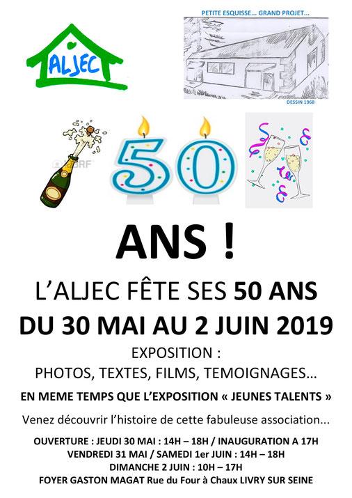 "L'ALJEC fête ses 50 ans ! + Expo ""Jeunes Talents"""