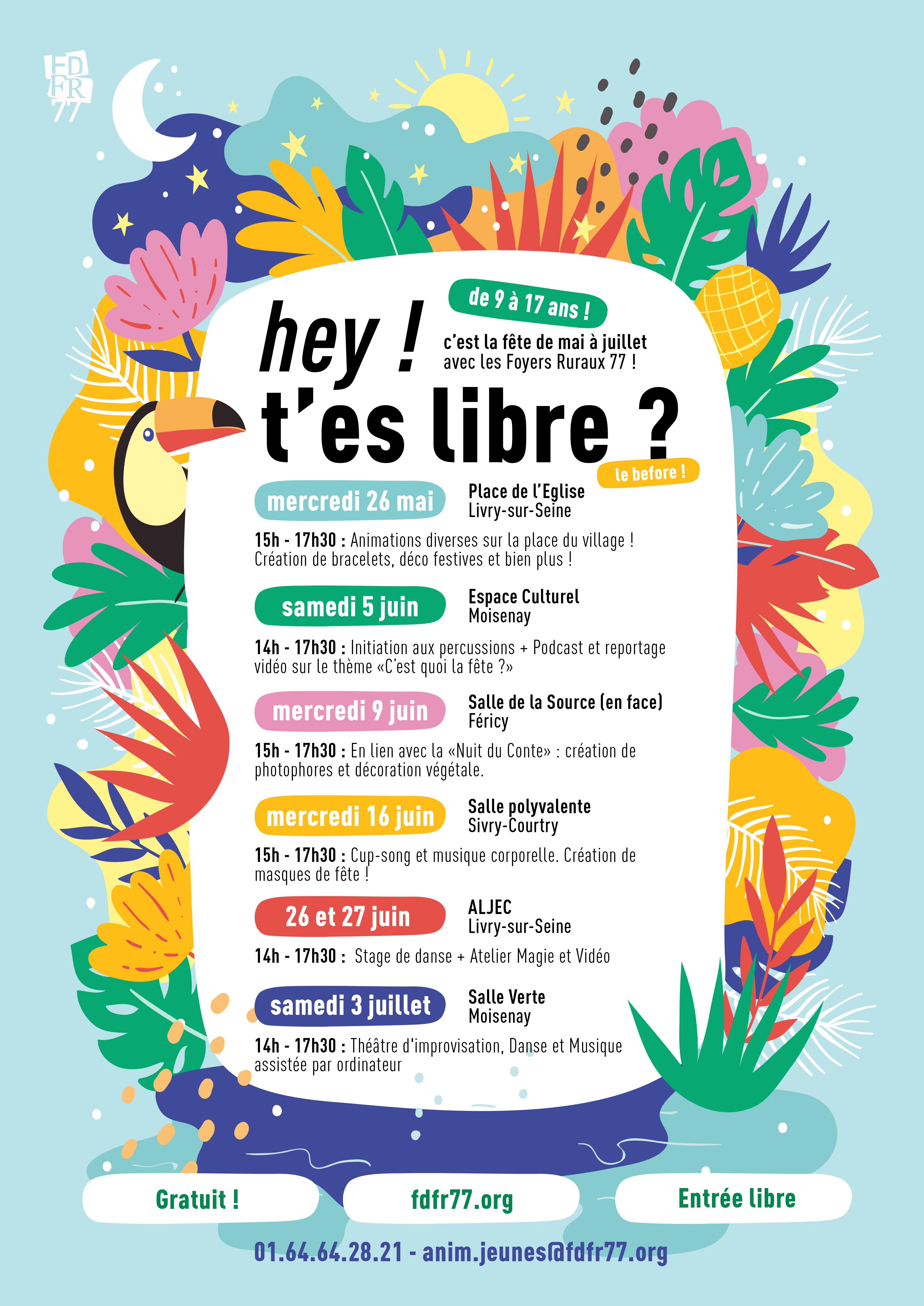 Hey ! T'es libre ? Le before