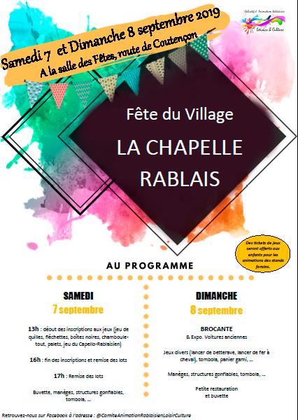 Fête du Village à la Chapelle-Rablais !